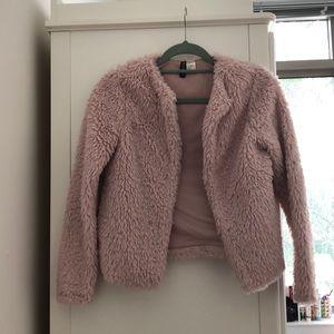 Pink Fluffy H&M Coat/Blazer